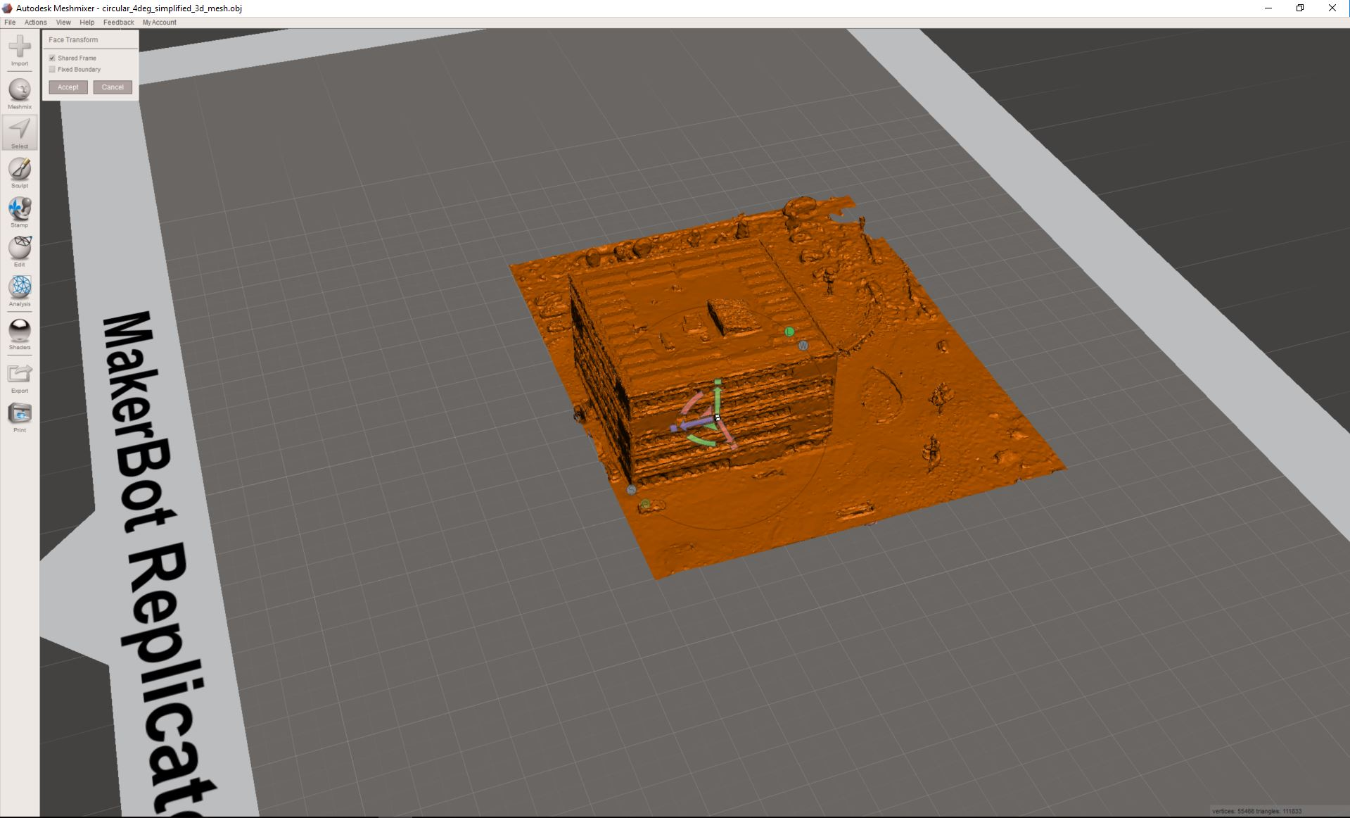 How to import a 3D Textured Mesh into Meshmixer – Support