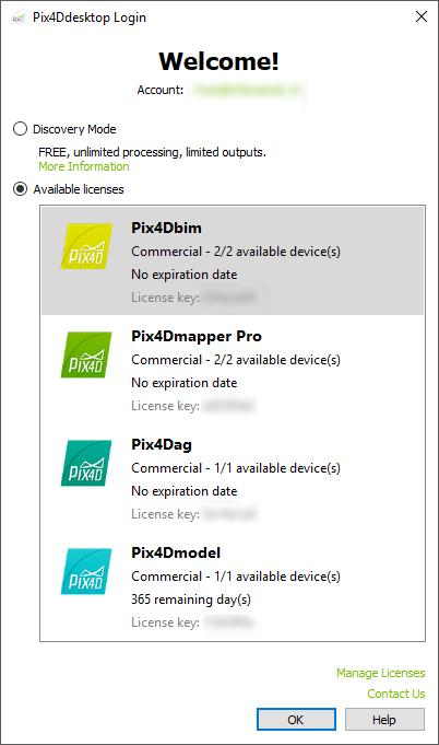 How to log in Pix4D Desktop – Support