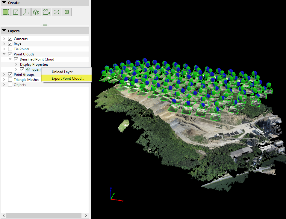 How to export the Point Cloud – Support