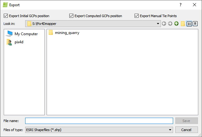 How to export Manual Tie Points and/or GCPs in the rayCloud – Support