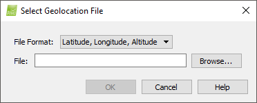 Select Geolocation File Support - Lat long altitude