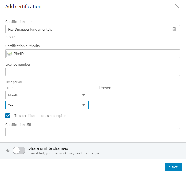 How To Add Certificate Widget To Linkedin Support