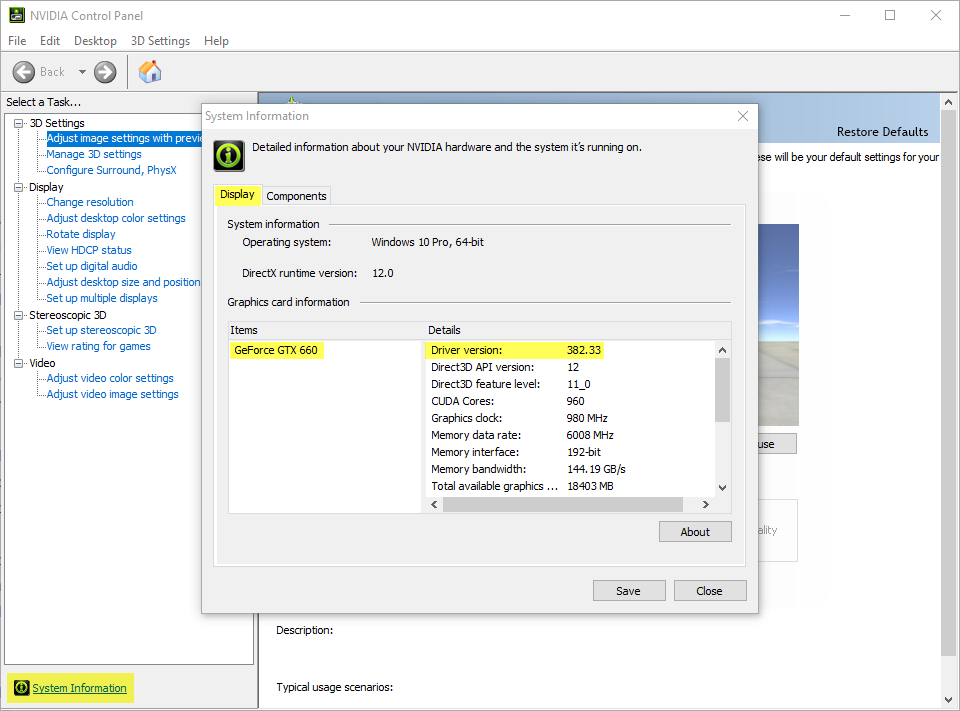How to update the NVIDIA graphic card – Support