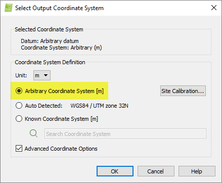 How to compute the Site Calibration for GCPs in an Arbitrary