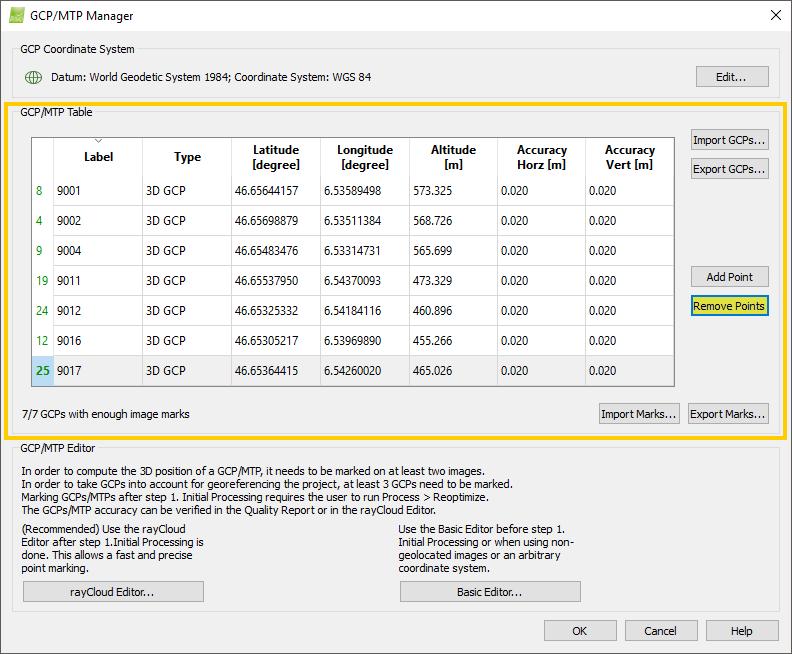 Menu Project GCP MTP Manager GCP MTP Table Remove - Table 24 menu