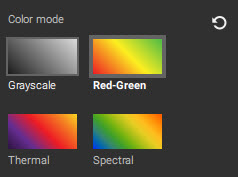 Pix4Dfields Color Mode Vegetation indices