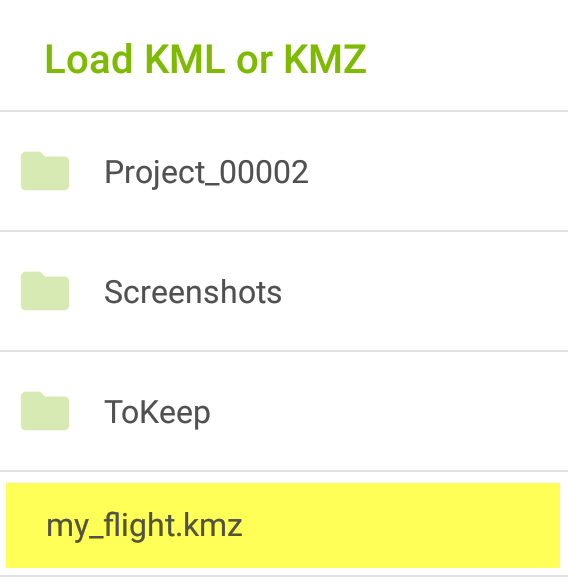 Android) Import  kml/ kmz file – Support