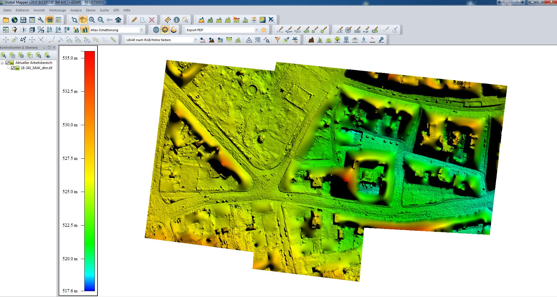How to automatically generate a Digital Terrain Model (DTM) – Support